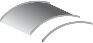 graphic of curved mini batten